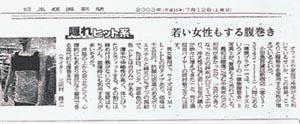 日経新聞でも紹介の腹巻